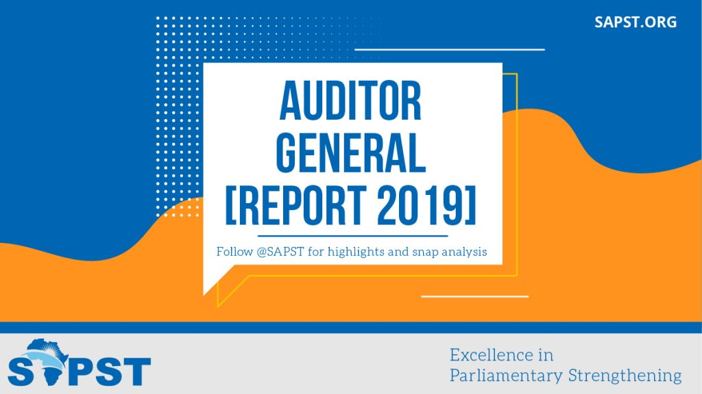Journalists and Parliament Chairpersons Dialogue on the 2019 Auditor the General's Report